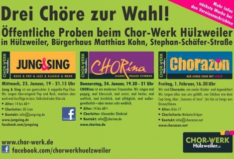 Offene Proben bei allen Chor-Werk-Chören
